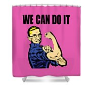 Notorious Rbg Ruth Bader Ginsburg We Can Do It Pop Art Shower Curtain