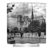 Notre Dame And Seine Shower Curtain