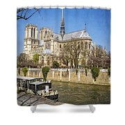 Notre Dame And The Seine Shower Curtain