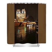 Notre Dame Bridge Paris France Shower Curtain
