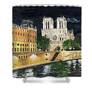 Notre Dame Shower Curtain by Bruce Schmalfuss