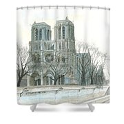 Notre Dame Cathedral In March Shower Curtain