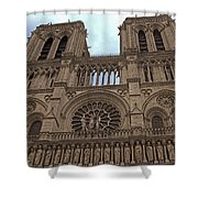 Notre-dame Cathedral Shower Curtain