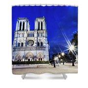 Notre Dame Cathedral Paris 4 Shower Curtain