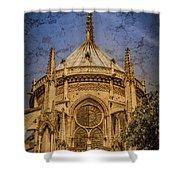 Paris, France - Notre-dame De Paris - Apse Shower Curtain