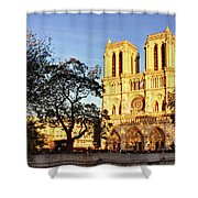 Notre Dame De Paris Facade Shower Curtain