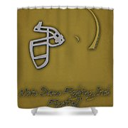 Notre Dame Fighting Irish Helmet 2 Shower Curtain