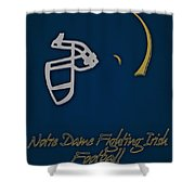 Notre Dame Fighting Irish Helmet Shower Curtain