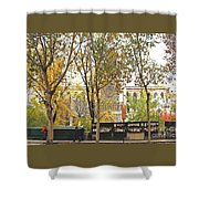 Notre Dame From The Window Shower Curtain