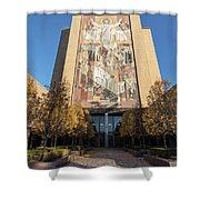 Notre Dame Library 2 Shower Curtain