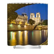 Notre Dame - Paris Night View Shower Curtain