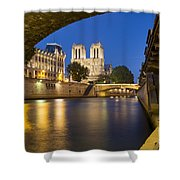 Notre Dame - Paris Night View II Shower Curtain
