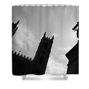 Notre Dame Silhouette Shower Curtain