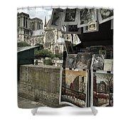 Notre Dame Street Art Shower Curtain