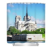 Notre Dame Over Water Shower Curtain