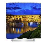 Notte A Ponte Vecchio Shower Curtain