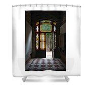Apartment Entrance - Venice, Italy Shower Curtain