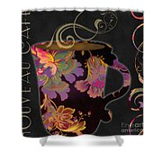 Nouveau Cafe Warm Shower Curtain