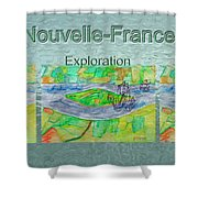 Nouvelle-france Mug Shot Shower Curtain