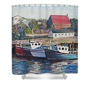 Nova Scotia Boats Shower Curtain
