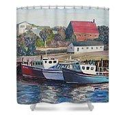 Nova Scotia Boats Shower Curtain