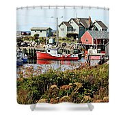 Nova Scotia Fishing Community Shower Curtain