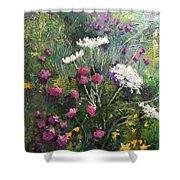 Nova Scotia Wildflowers Shower Curtain