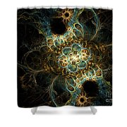 Novae II Shower Curtain by Sandra Hoefer