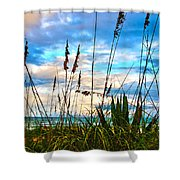 November Day At The Beach In Florida Shower Curtain by Susanne Van Hulst