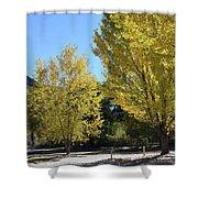 November Gold Shower Curtain