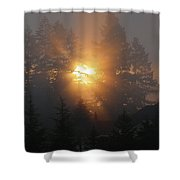 November Sunrise - 1 Shower Curtain
