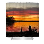 November Sunset Manasquan Reservoir Nj Shower Curtain