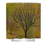 November Tree Shower Curtain
