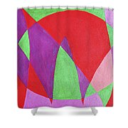 Now In Abstract Text Art Shower Curtain