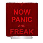 Now Panic 9 Shower Curtain