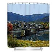 Noxon Bridge Shower Curtain