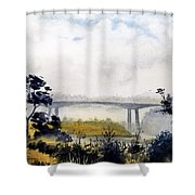 Noyo Harbor Shower Curtain