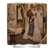 Nr-dress Norman Rockwell Shower Curtain
