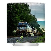 Ns 62w With Blurred Flowers Shower Curtain