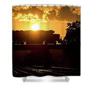 Ns Local At Sunset Shower Curtain