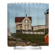 Nubble At Sunset Shower Curtain