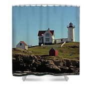 Nubble Light 4 Shower Curtain