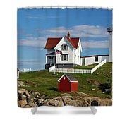 Nubble Lighthouse - D002365 Shower Curtain