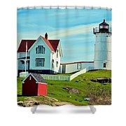 Nubble Lighthouse II Shower Curtain