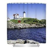 Nubble Lighthouse Shower Curtain