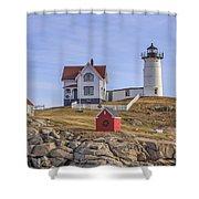 Nubble Lighthouse York Maine Shower Curtain