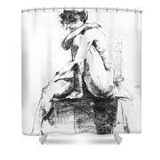 Nude 11 Shower Curtain