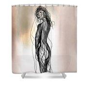 Nude 14 Shower Curtain