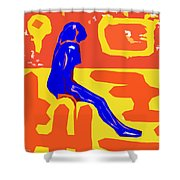 Nude 16 Shower Curtain