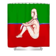 Nude 28 Shower Curtain